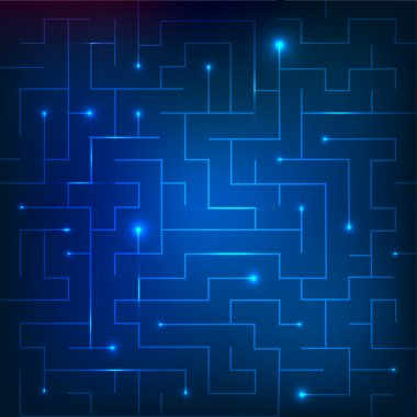 Vector illustration of blue maze stock vector