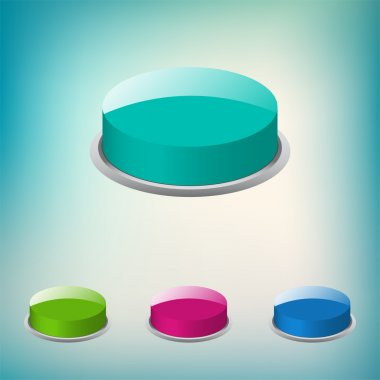 Set of vector round buttons stock vector