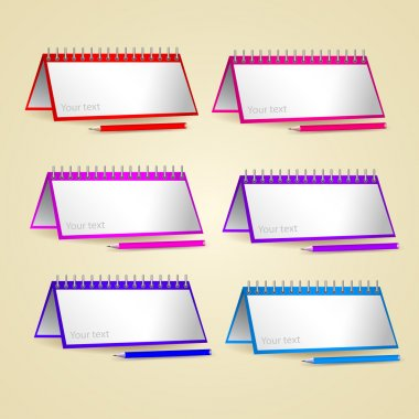 Vector set of papers and pencils stock vector