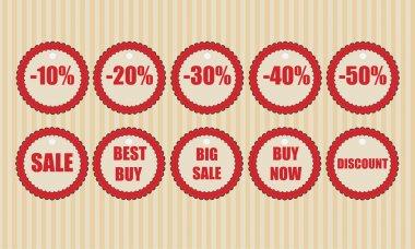 Vector Discount Labels vector illustration stock vector