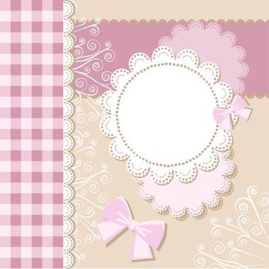 Template frame design for card stock vector