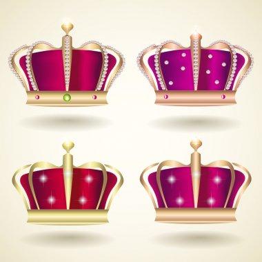 Crown Set vector illustration stock vector
