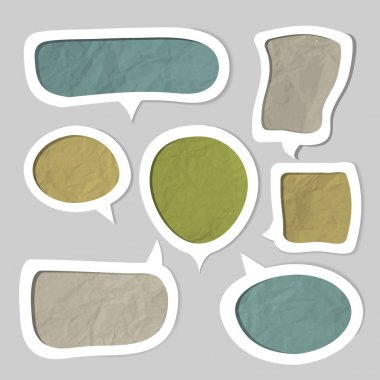 Speech bubbles set vector illustration stock vector