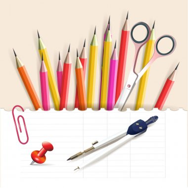 Stationery objects vector illustration stock vector