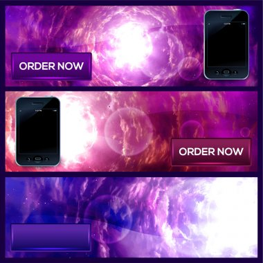 Smart-phone banners - Order now stock vector