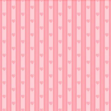 Valentine seamless hearts pattern stock vector