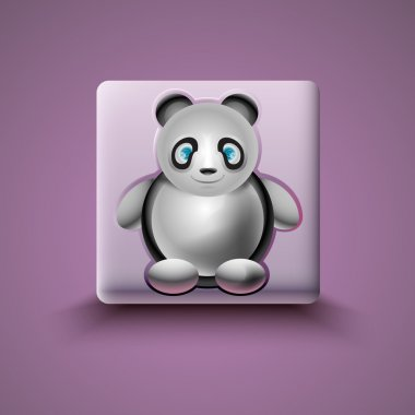 Panda Icon vector illustration stock vector