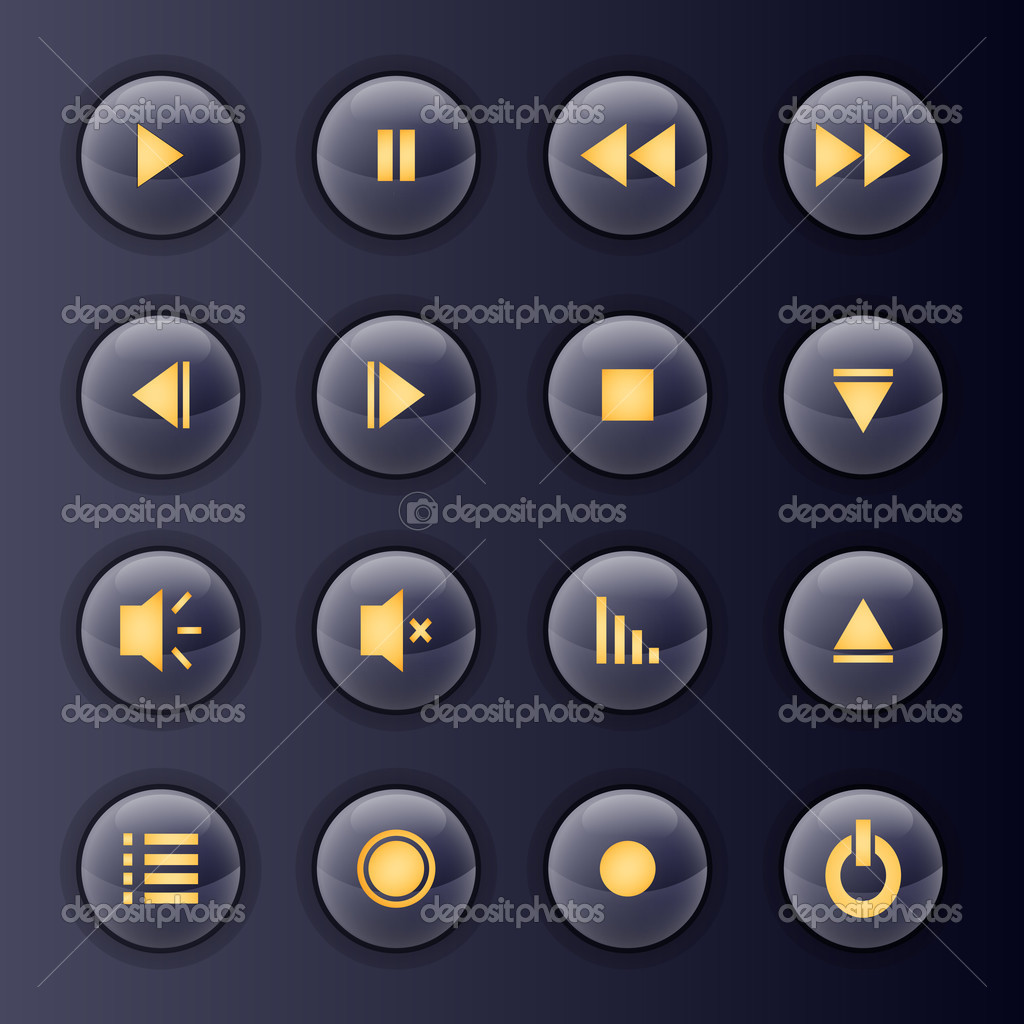 Multimedia buttons,  vector illustration stock vector