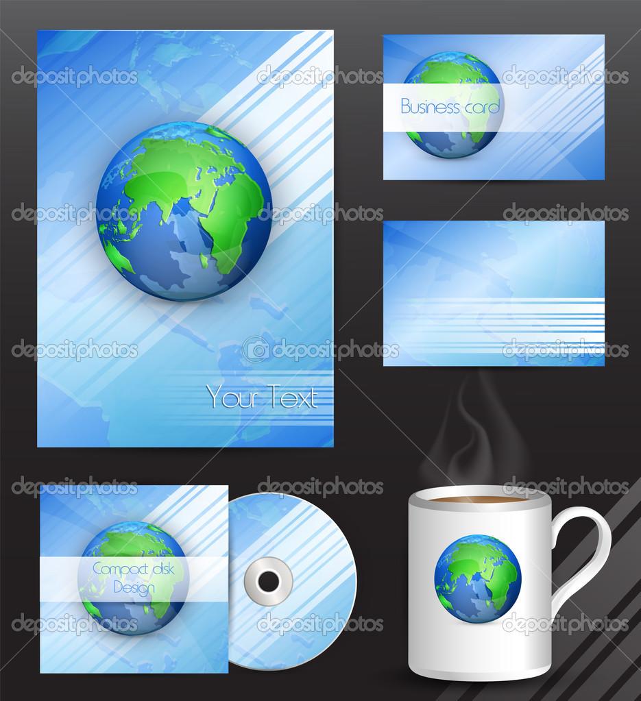 Stationery design set vector illustration stock vector
