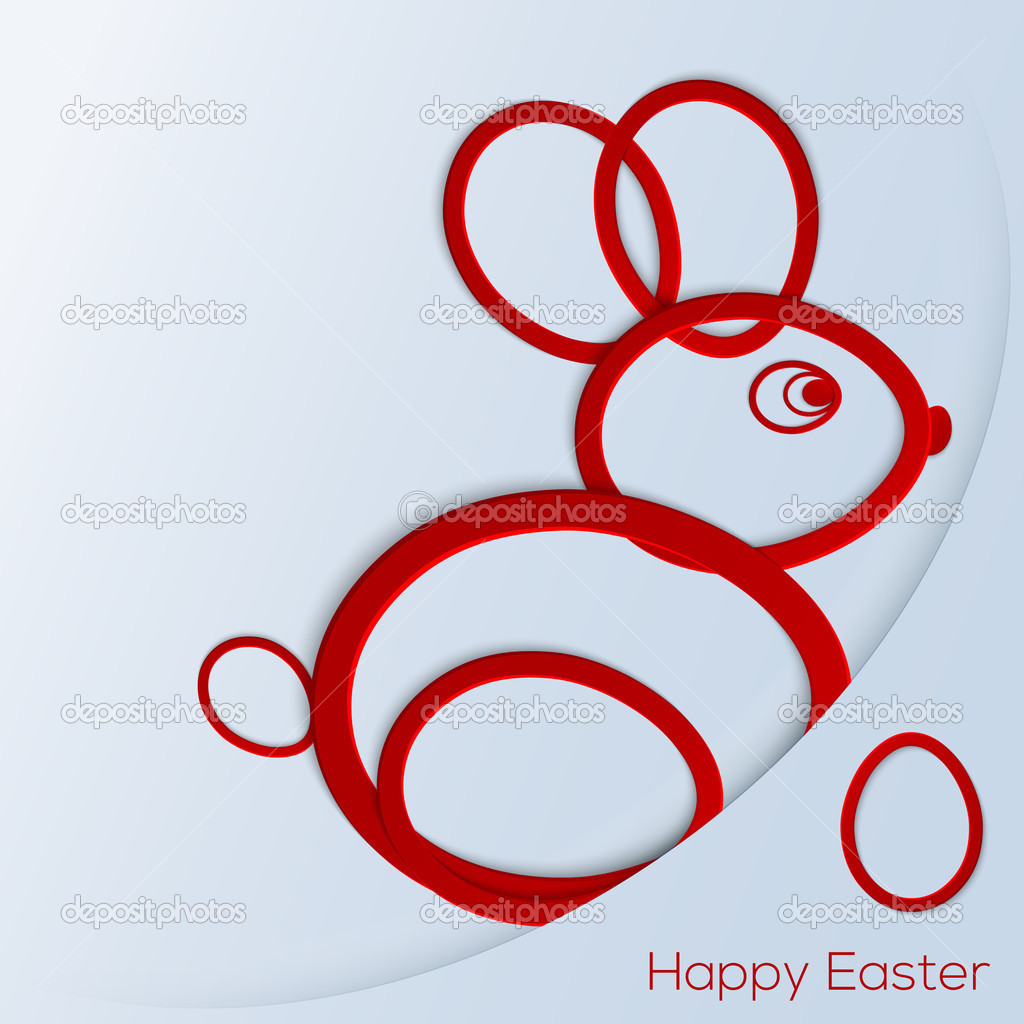 Happy easter bunny vector illustration stock vector