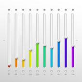 Volume sliders set vector illustration