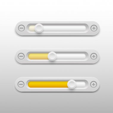 Volume sliders set vector illustration stock vector