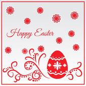 Boldog húsvéti üdvözlő kártya vektor