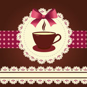 Vektor kártya bögre kávét