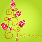 Happy Velikonoční přání. vektor