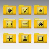 typickými mobilním telefonu ikony aplikace a služby