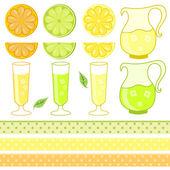 citrusfélék levében - vektor-illusztráció