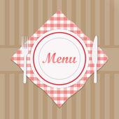 menu restaurace znamení s vidličkou a nožem