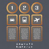 Dopravní typ ikony, vektorová design