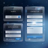 Navigationselemente für die Gestaltung von Webseiten mit eingestellten Symbolen: Navigationsmenüleisten