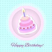 vektorové šťastné k narozeninám. narozeninový dort. vektorové ilustrace
