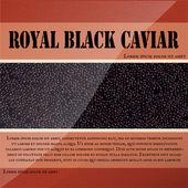 Royal black caviar, vector design