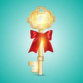 zlaté klíče vektorové ilustrace