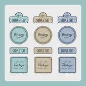 Vektor Set Vintage Etiketten