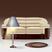 Vector sofa with lamp
