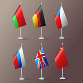 World flags. Vector design