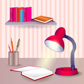 Vector Table with educational objects