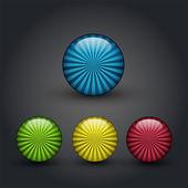 Vektor barevná tlačítka, vektorové ilustrace
