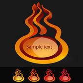 Tűz ikonok vektoros beállítása