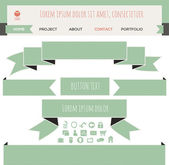 Set of vector ribbon banners.