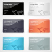 Vector set with business cards
