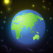 Earth icon,  vector illustration