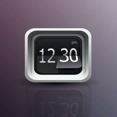 Flip clock vector. The numbers are easy to replace with another numbers stock vector