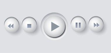 Multimedia Buttons Illustration Vector stock vector