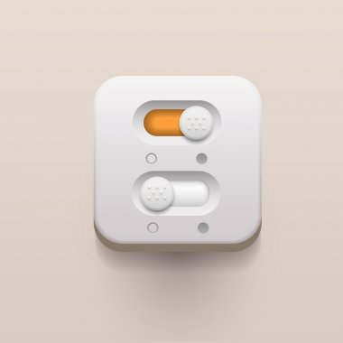 On and off switch buttons stock vector