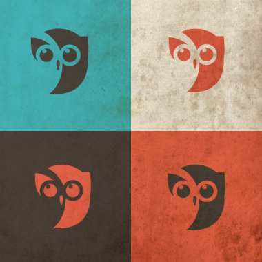 Owl Head Icon art illustration