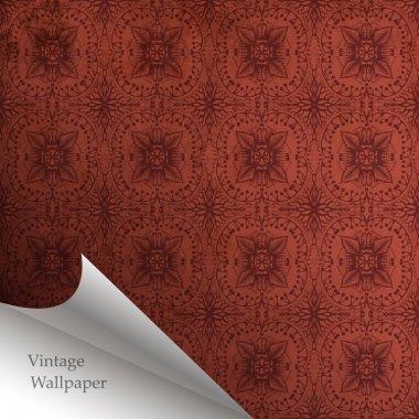 Vector wallpaper design with folded corner stock vector