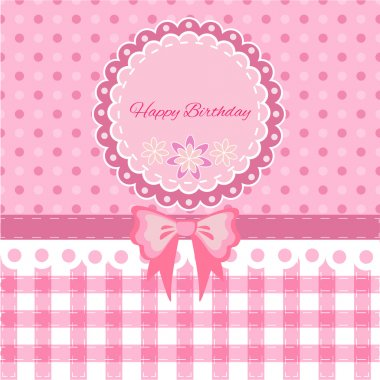 Vector birthday card vector illustration stock vector
