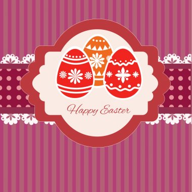 Happy Easter Greeting Card. Vector stock vector