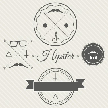 Hipster style background. vector illustration stock vector