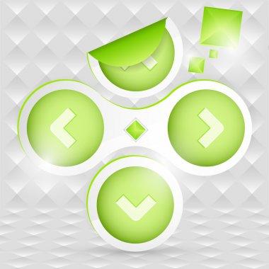 Green arrows, vector design stock vector