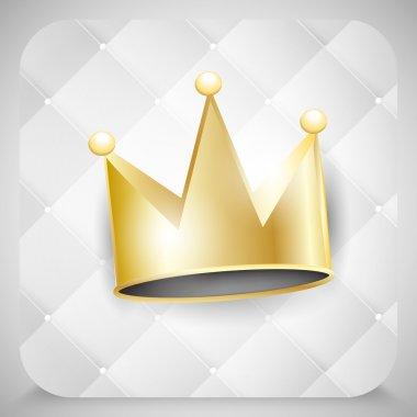 Vector golden crown, vector design stock vector