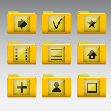 Typical mobile phone apps and services icons stock vector