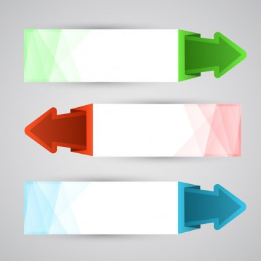 Arrow Banners, vector design stock vector