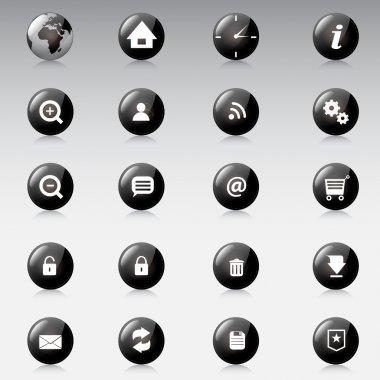 Web icons, vector design stock vector