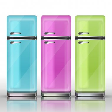 Front view of a refrigerators - vector illustration stock vector